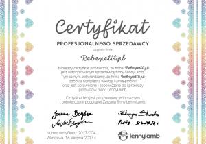certyfikat lennylamb bebepetit