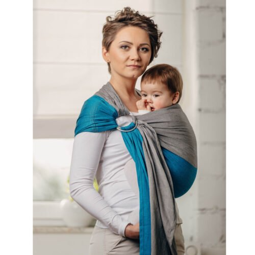 LennyLamb Moja pierwsza chusta kółkowa do noszenia dzieci Sodalit