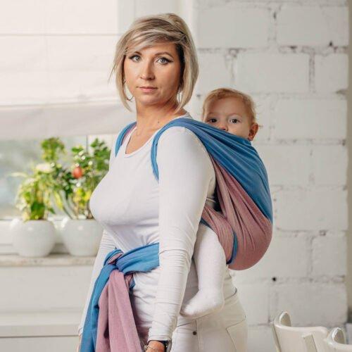 Moja pierwsza chusta donoszenia dzieci Fluoryt bawełna