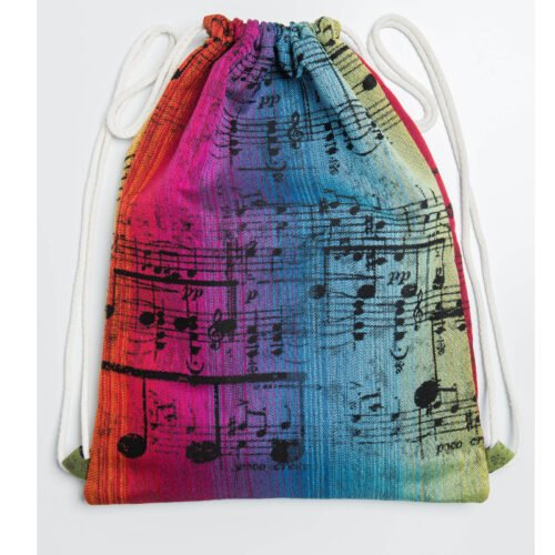 ad85641ffae13 LennyLamb Plecak Worek z materiału chustowego Symfonia Tęczowa Dark