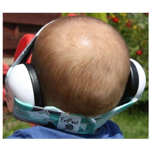 EciPeci słuchawki wygłuszające dla maluchów MOTYLKI TURKUS