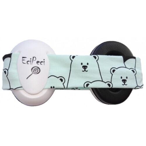 EciPeci słuchawki wygłuszające dla maluchów PANDA MIĘTA