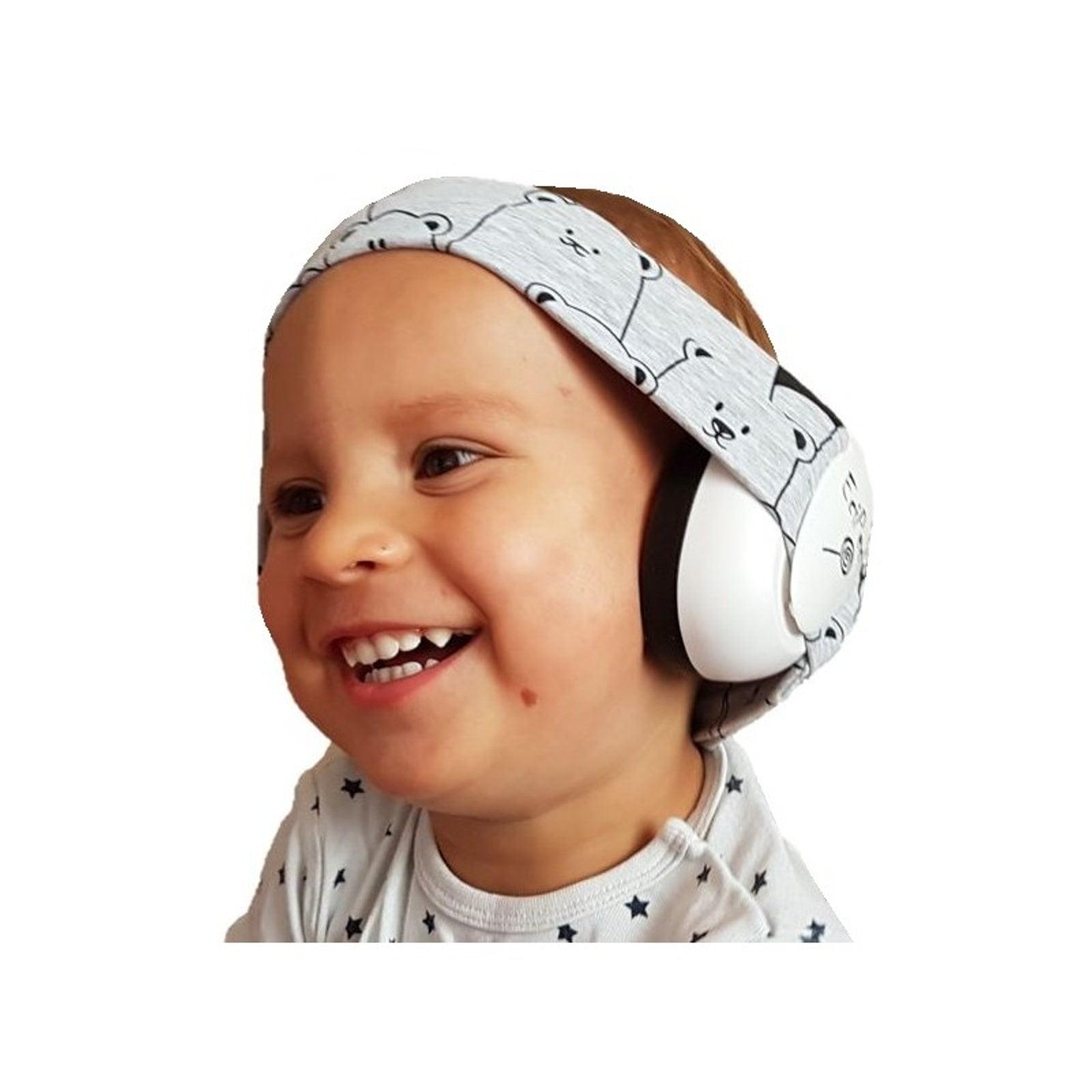 EciPeci słuchawki wygłuszające dla maluchów PANDA SZARY