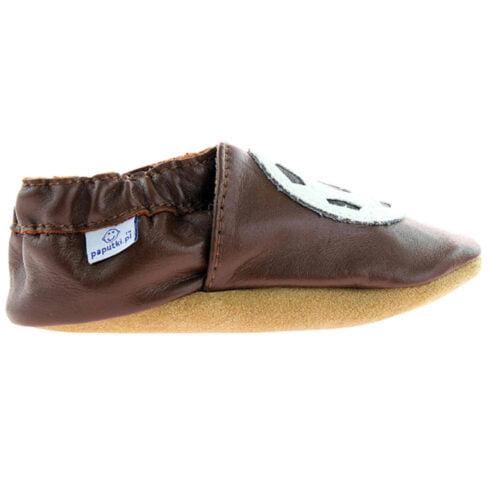 Paputki obuwie ze skóry jagnięcej SOFT-SOLE Brąz PIŁKA
