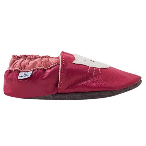 Paputki obuwie ze skóry jagnięcej SOFT-SOLE Ciemny Róż KOT
