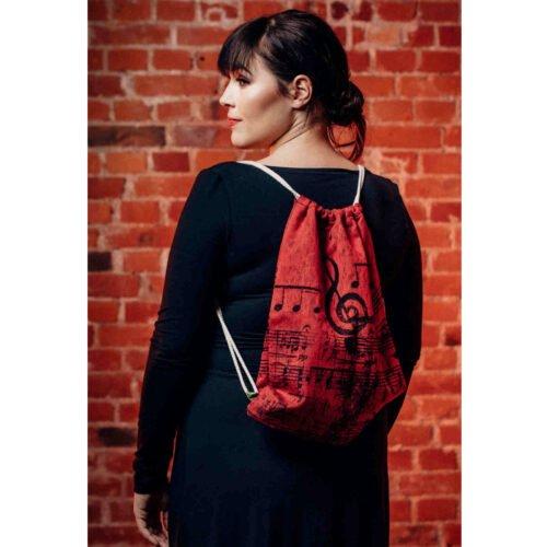 LennyLamb Plecak Worek z materiału chustowego Symfonia Flamenco