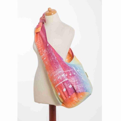 LennyLamb Torba HOBO z tkaniny chustowej SYMFONIA TĘCZOWA LIGHT