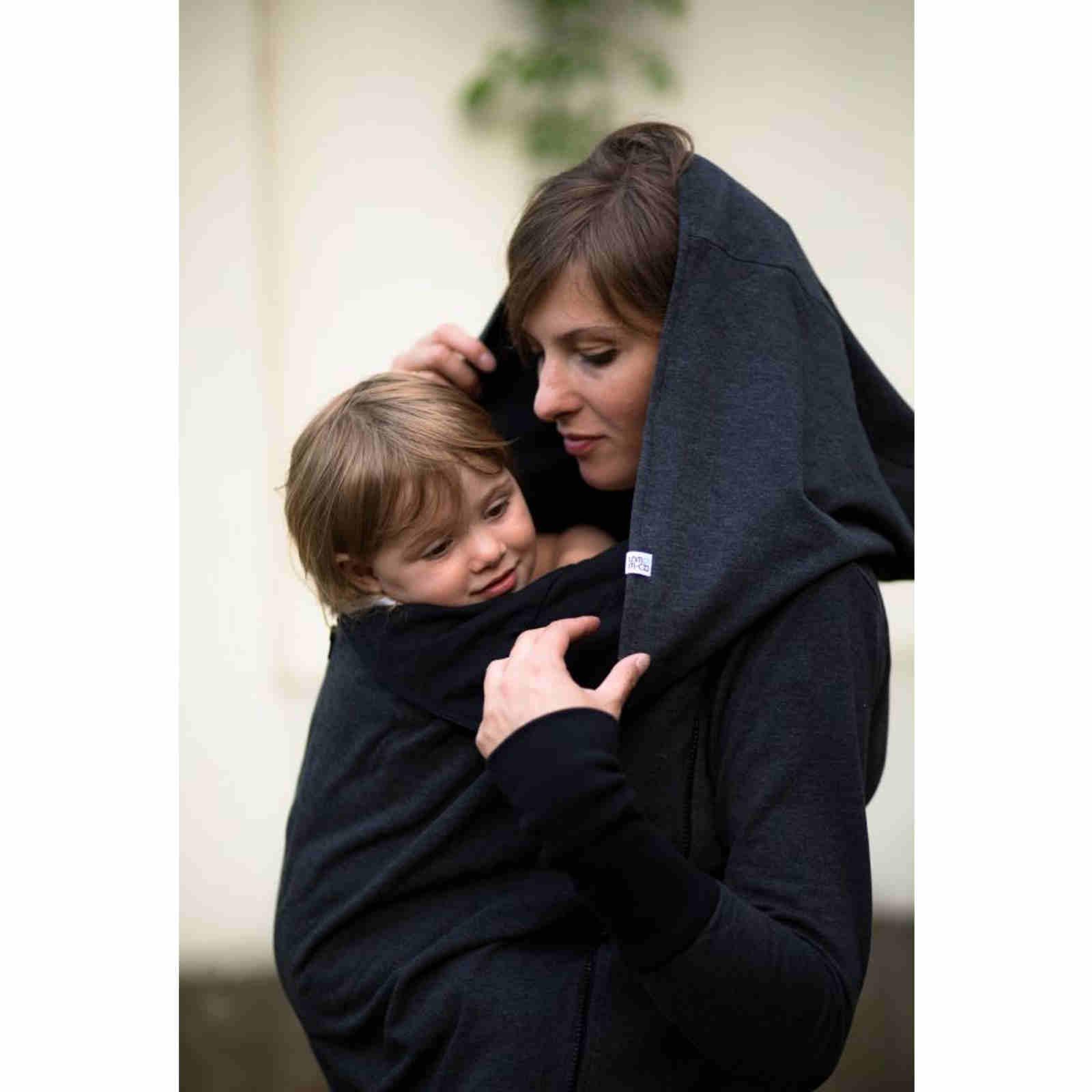 9be75a4cbbff4a Greyse bluza do noszenia dzieci 4w1 GRAFIT czarna – BebePetit ...