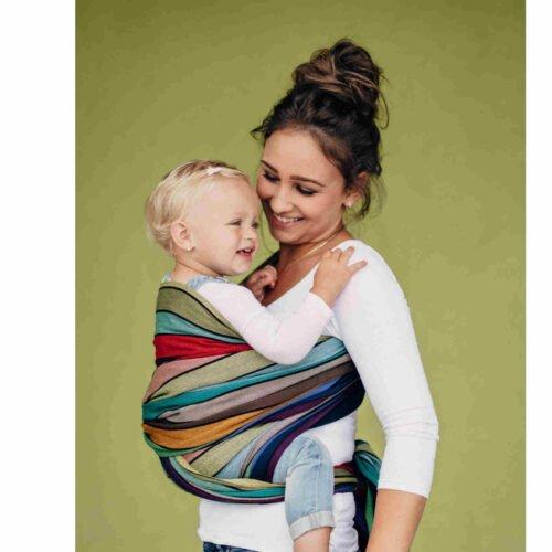 LennyLamb chusta do noszenia dzieci Bawełna 210g KARUZELA BARW