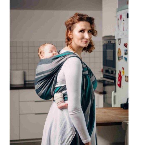 LennyLamb chusta do noszenia dzieci Bawełna 210g SMOKY MIĘTA