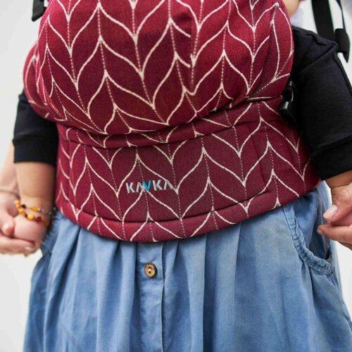 Kavka nosidełko Multi-Age Burgundy Braid
