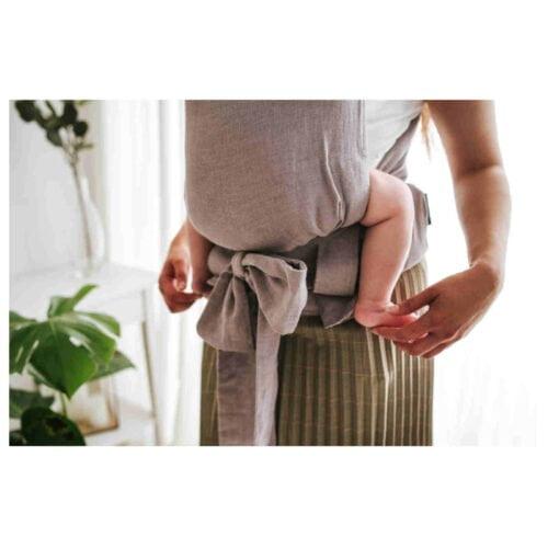 Kavka lniane nosidełko ergonomiczne wiązane HANDY SWIFT LINEN
