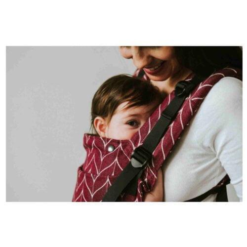 Kavka bawełniane nosidełko ergonomiczne regulowane Multi-Age PLUS Wine Braid TODDLER