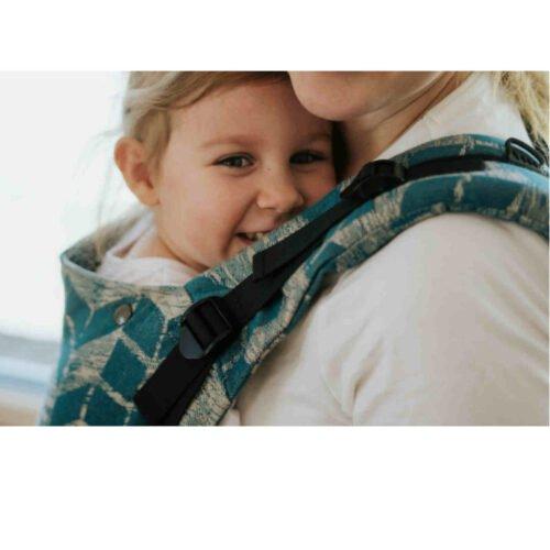 Kavka bawełniane nosidełko ergonomiczne regulowane Multi-Age HERITAGE SEA GEO