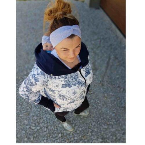 Greyse bluza do noszenia dzieci 5w1 BLUE FLOWERS