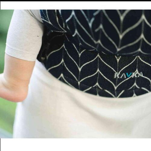 Kavka lniane nosidełko ergonomiczne regulowane Multi-Age DENIM BRAID LINEN