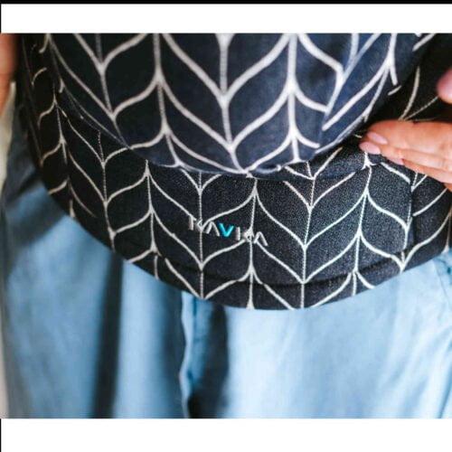 Kavka bawełniane nosidełko ergonomiczne regulowane Multi-Age INK Braid