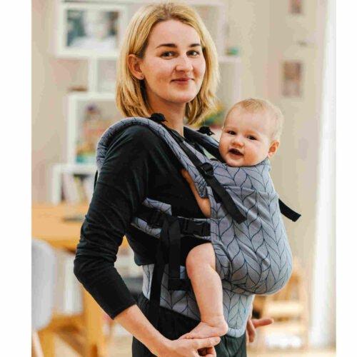 Kavka bawełniane nosidełko ergonomiczne regulowane Multi-Age MISTY GRAY BRAID