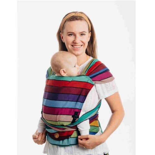 LennyLamb nosidełko dla małych dzieci LennyHybrid Half Buckle - KARUZELA BARW