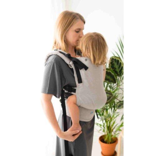 Kavka lniane nosidełko ergonomiczne regulowane Multi-Age STONE linen